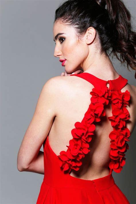 imagenes mujeres vestido de baño vestido corto de fiesta asim 233 trico rojo con adorno flores