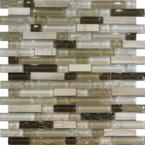 10sf wooden gray marble glass brown crackle mosaic