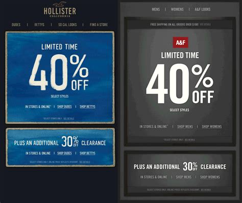 abercrombie fitch coupons 30 off w promo code for extra 30 off clearance and more at hollister and