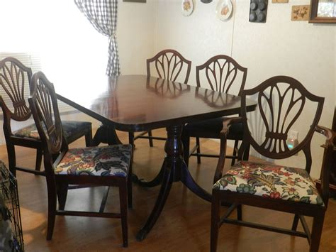 hometalk duncan phyfe table chairs and buffet