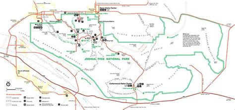 joshua tree map joshua tree national map and location desertusa