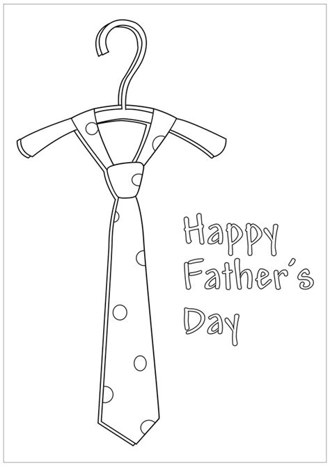 fathers day tie coloring page shirt and tie coloring page coloring pages
