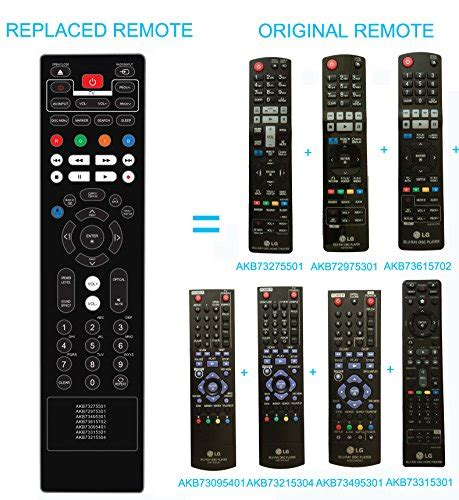 Remote Home Theater Lg new lg disc player home theater replaced remote akb73615702 lg akb73215304
