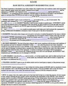 Car Residential Rental Agreement 4 Basic Residential Lease Agreement Printable Receipt
