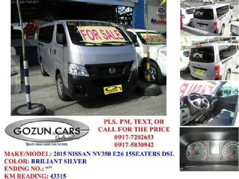 urvan nissan 2015 nissan urvan used cars in davao city mitula cars