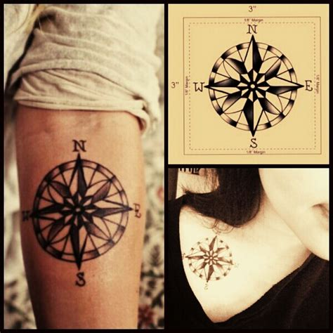 compass tattoo shop strepik compass tattooforaweek temporary tattoos largest