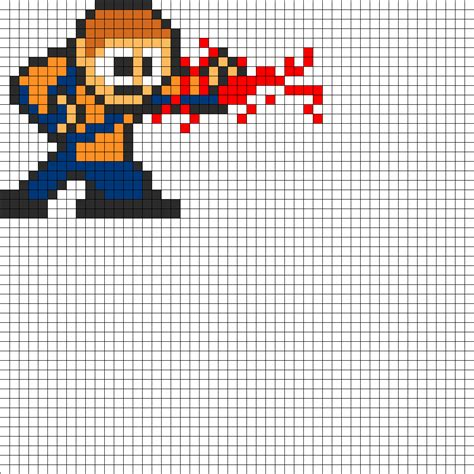 8 bit cole from infamous perler bead pattern bead