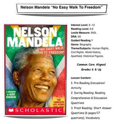 questions on biography of nelson mandela nelson mandela lesson plans and nelson on pinterest