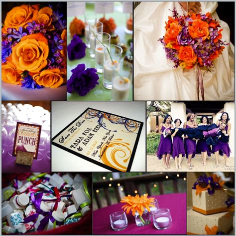 Your Wedding Support Get The Look Orange Purple Purple And Orange Centerpieces For Weddings