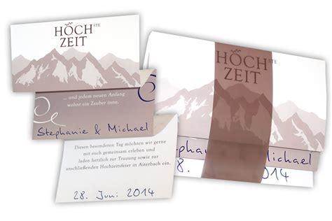 Hochzeitseinladung Berge by Hochzeitskarten Design F 252 R Die Hochzeit Am Berg
