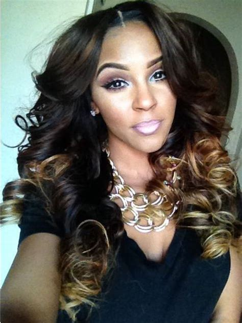 hairstyles with both curls and wrinkles for urban women ombre spiral curl we heart this look weave crush