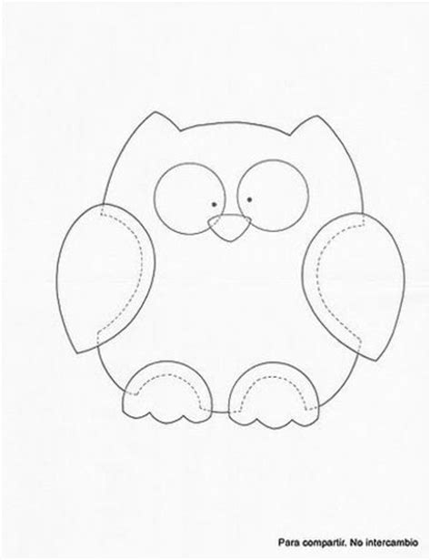printable owl applique pattern owl template preschool items juxtapost