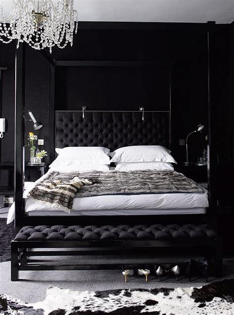 room with black walls black bedroom contemporary bedroom