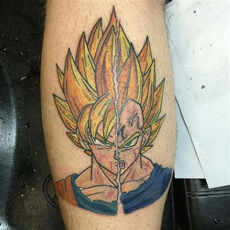 imagenes de goku tatuajes goku and majin vegeta tattoos pinterest goku