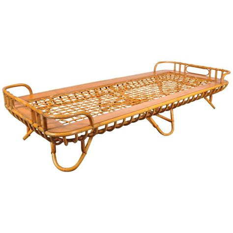 rattan daybed rattan daybed by roh 233 netherlands circa 1950 for sale at