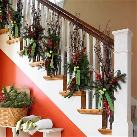 How To Decorate My Home For Christmas by 23 Gorgeous Christmas Staircase Decorating Ideas