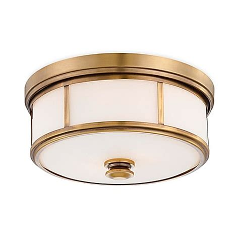Gold Flush Mount Ceiling Light Minka Lavery 174 Harbour Point 2 Light Flush Mount Ceiling Fixture In Gold W Opal Glass Shade Bed