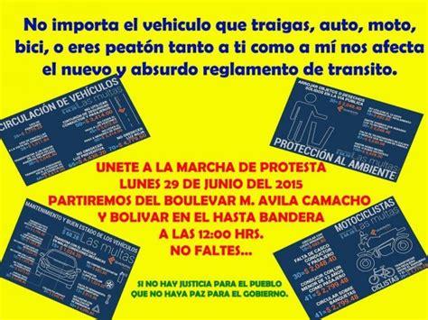 reglamentos de transito uruguay 2015 convocan a marcha de protesta en veracruz contra nuevo