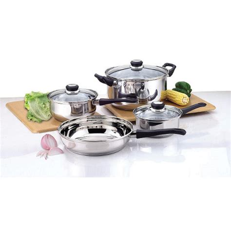 Set Supra7 Stainless culinary edge 7 bakelite handle stainless steel cookware set 2207 the home depot