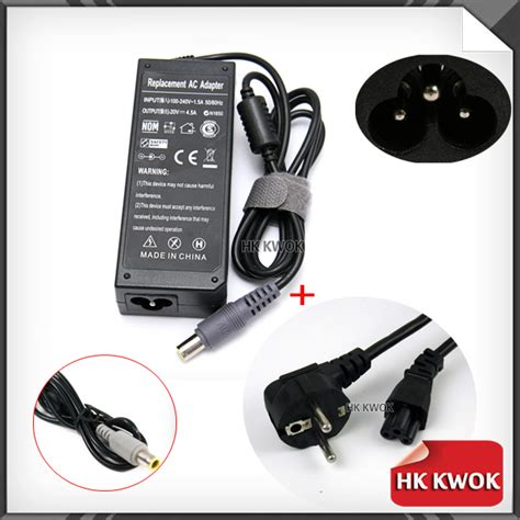 Promo Adaptor Ibm Lenovo 20v 3 25a Eu Adlx65clge2a Black 90w 20v 3 25a 7 9 5 5mm ac adapter eu power cord for ibm