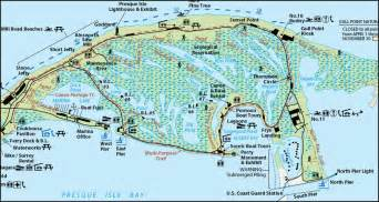 Presque Isle State Park Map by Presque Isle State Park Erie County Pa