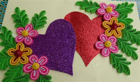 to make beautiful how to make beautiful quilling heart love design greeting