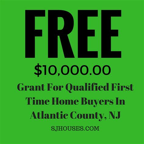 atlantic county time home buyer grant money now