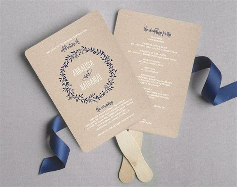 diy wedding program fans template best 25 fan wedding programs ideas on diy