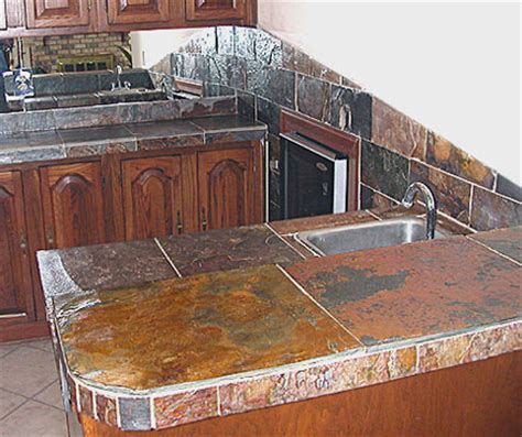 Slate Tile Kitchen Countertops slate countertops cost buying tips installation