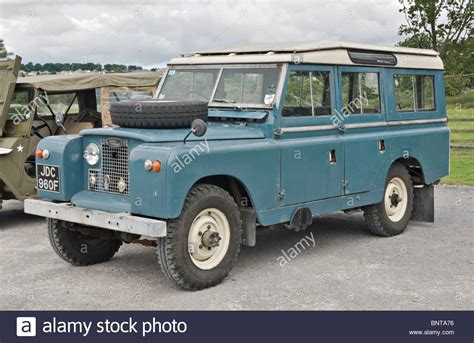 land rover jeep land rover series ii wheel base parked to an