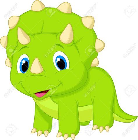 imagenes bebes libres derechos lindo beb 233 triceratops de dibujos animados ilustraciones