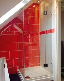 sided ensuite loft shower   angled loft space