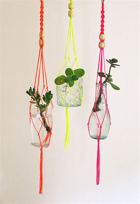 Hangers For Plants - diy macrame plant hanger