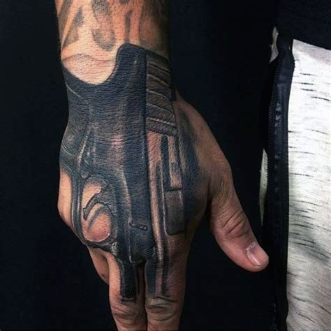 gun tattoo on hand gun tattoos designs ideas and meaning tattoos for you
