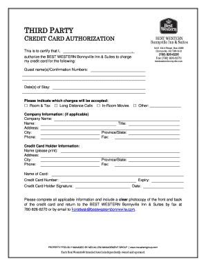 best western card best western card authorization form fill