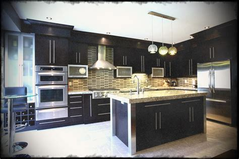 kitchen modern backsplash cabinets color decoration