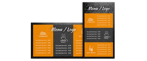 Digital Signage Insights Food Sector Free Digital Menu Board Layout Eclipse Digital Media Menu Board Template
