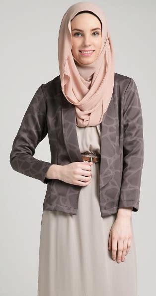 Blazer Abu Perempuan 12 contoh model baju atasan wanita muslim dewasa awal 2016