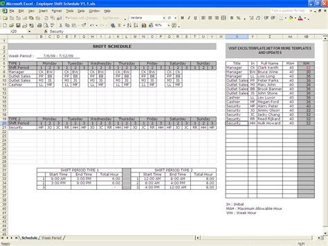 monthly work schedule template 29 free word excel pdf format