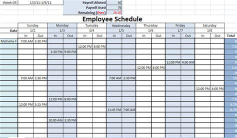 work schedule template  commercewordpress