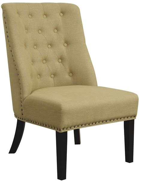 linen accent chair yellow linen like fabric accent chair 902497 coaster