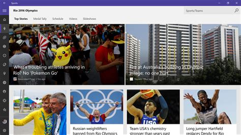 bing sports best 2016 olympic games apps for windows 10 windows central