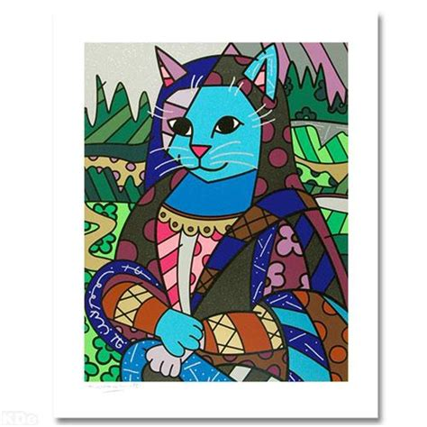 mona cat romero britto mona cat