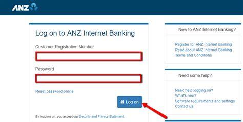 reset anz online password australia and new zealand banking anz online banking