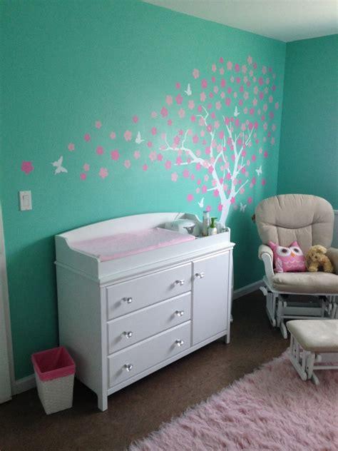 Aubrey's Tiffany Blue and Pink Owl Nursery   Project Nursery