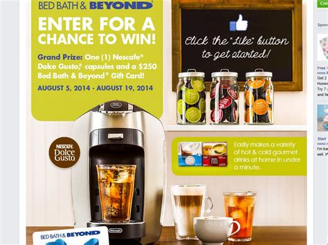 Bed Bath And Beyond Sweepstakes 2014 - bed bath beyond win a nescafe dolce gusto esperta sweepstakes