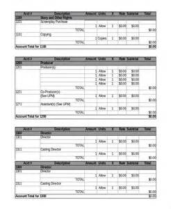 pre production checklist template budget template 6 free pdf excel downloads