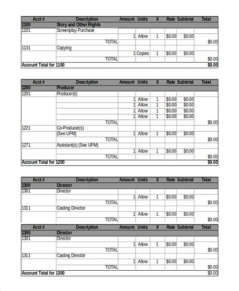 post production budget template 8 budget templates word excel pdf free