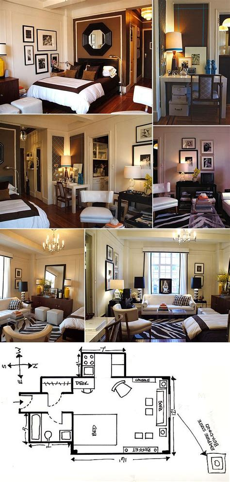 Small Studio Apartment Layout Ideas Small Studio Apartment Layout Ideas Living With Less Pinterest