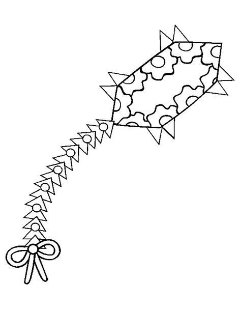 dragon kite coloring page kites coloring pages